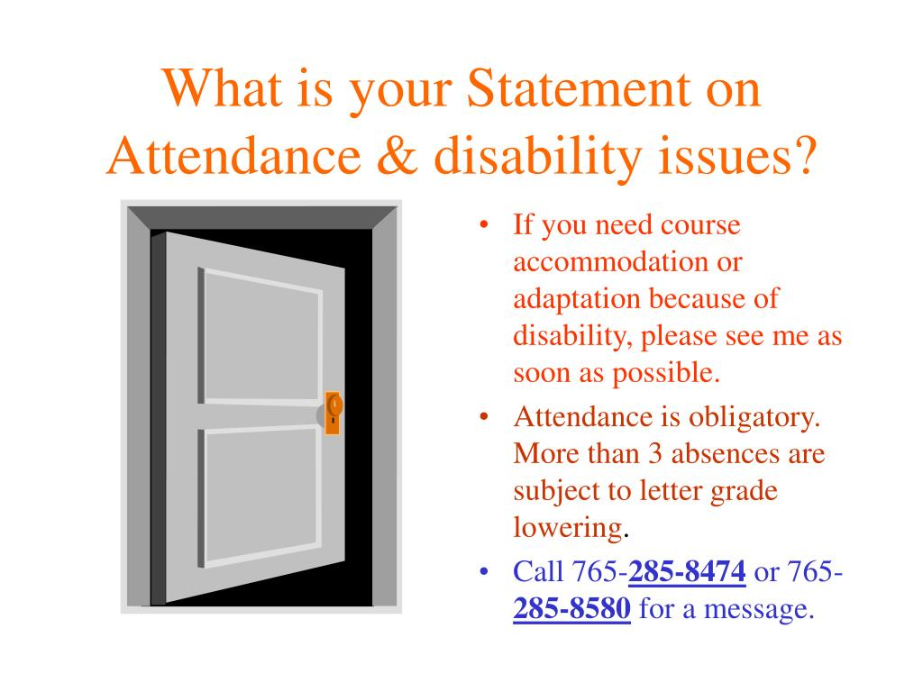 What is your Statement on Attendance & disability issues?