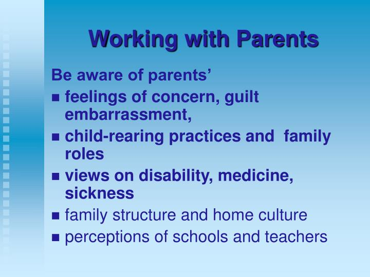parental perceptions of child disability