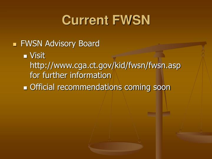 Current FWSN