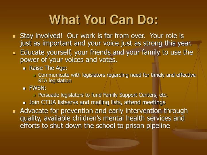 What You Can Do: