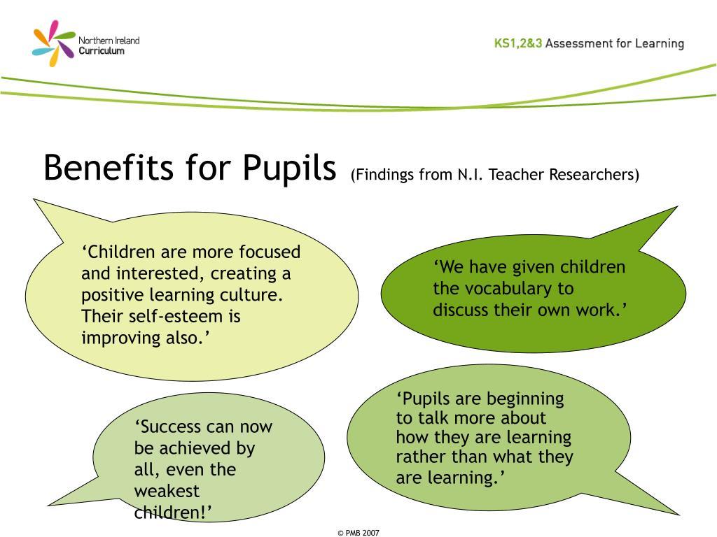 Benefits for Pupils