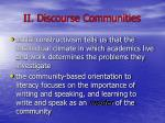 ii discourse communities