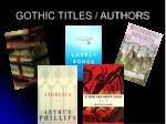 gothic titles authors