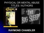 physical or mental abuse titles authors2