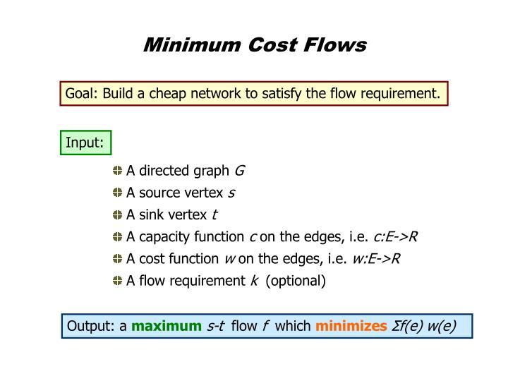 Minimum Cost Flows