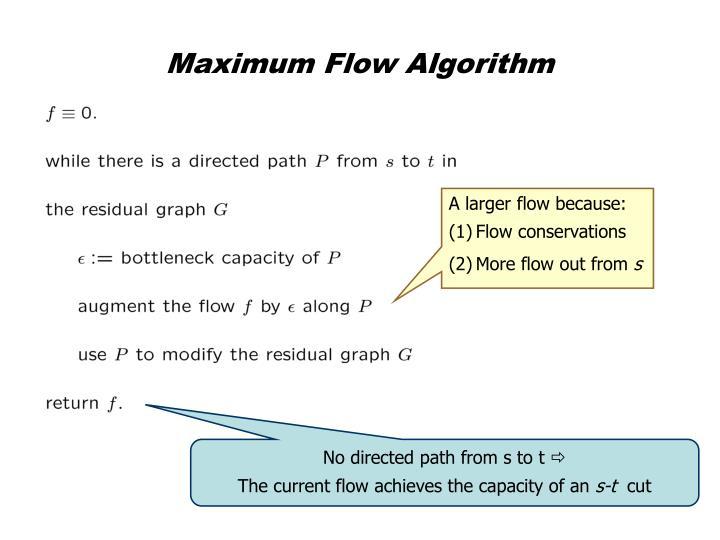 Maximum Flow Algorithm