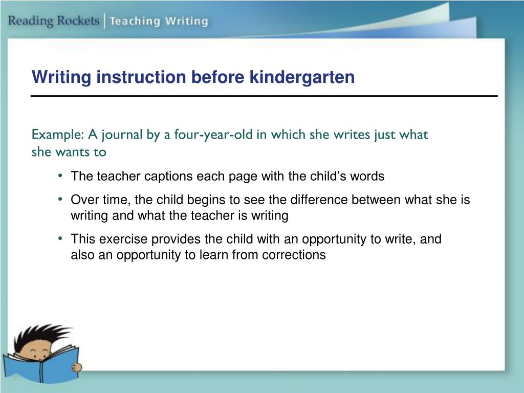 Writing instruction before kindergarten