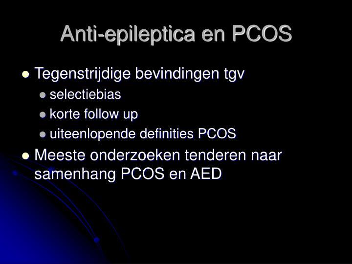 Anti-epileptica en PCOS