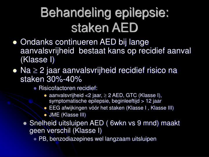 Behandeling epilepsie: