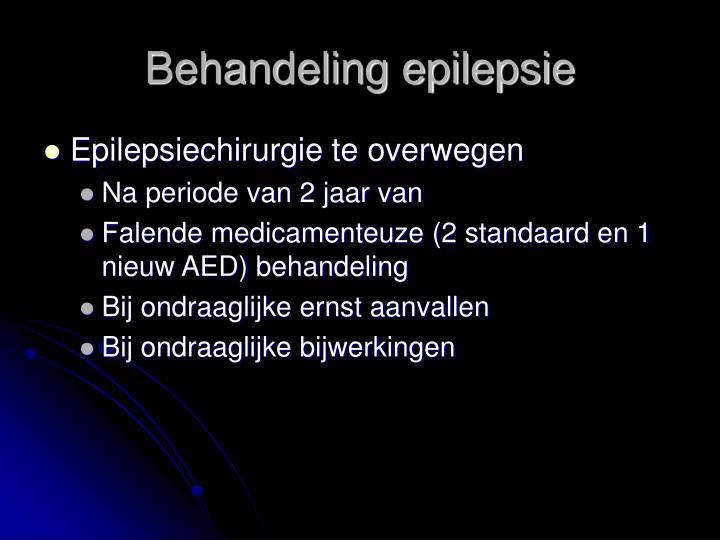 Behandeling epilepsie