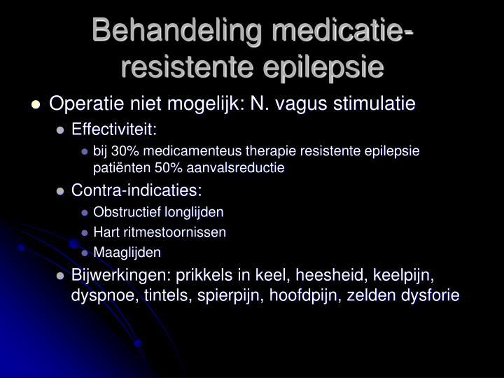 Behandeling medicatie-