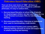 outcomes based education obe