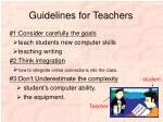 guidelines for teachers