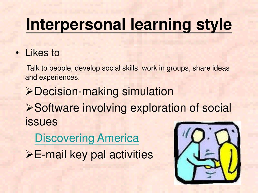 Interpersonal learning style