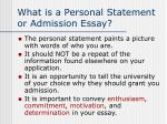 what is a personal statement or admission essay
