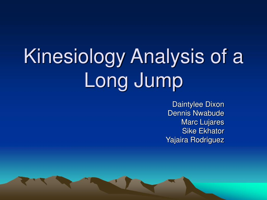 kinesiology analysis of a long jump l.