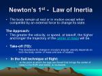 newton s 1 st law of inertia