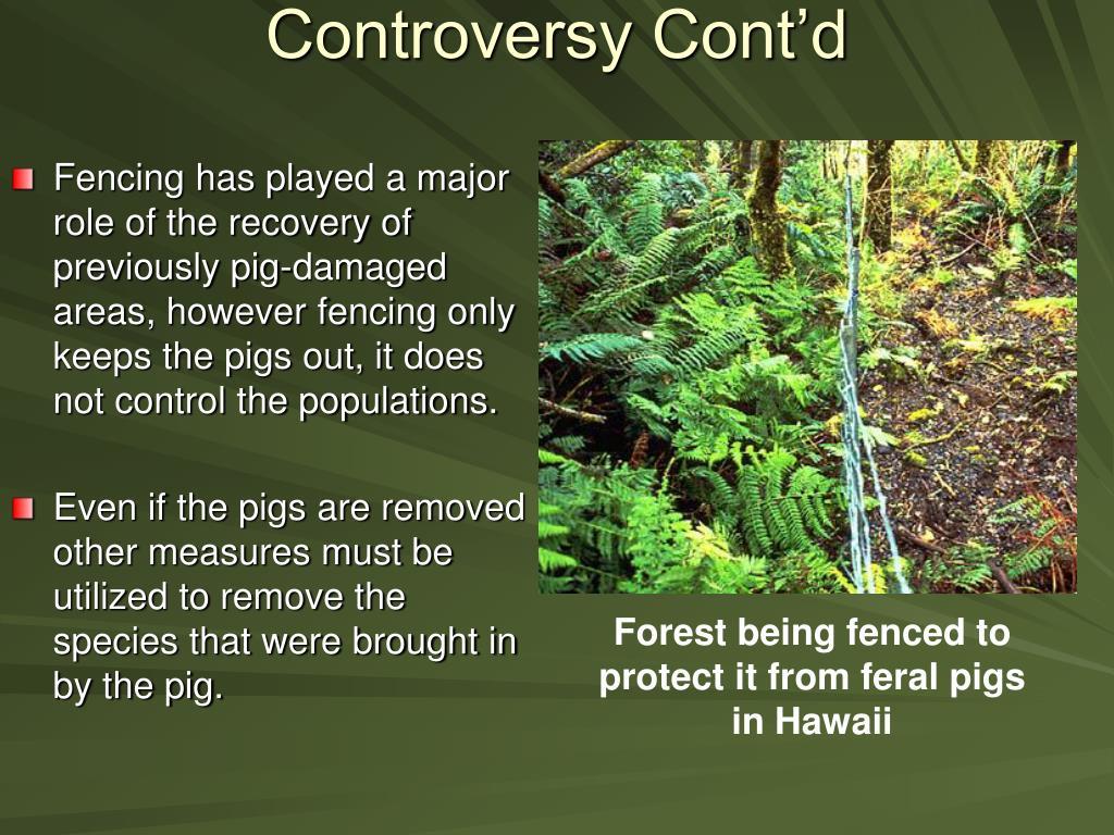 Controversy Cont'd