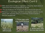 ecological effect cont d