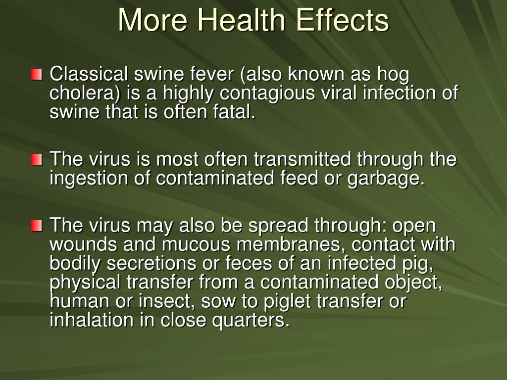 More Health Effects