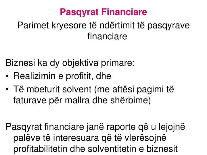 Pasqyrat Financiare