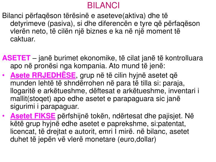 BILANCI