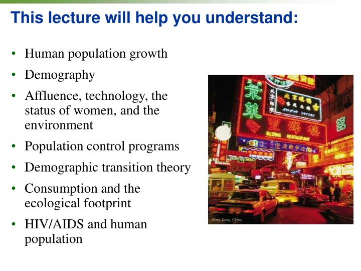 systems theory and human population growth