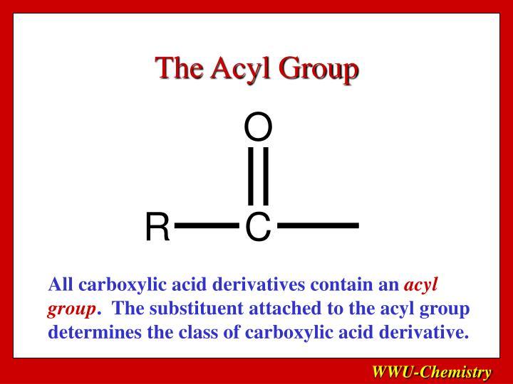 The Acyl Group