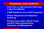 regional data survey