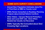 some data survey conclusions