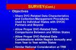 survey cont