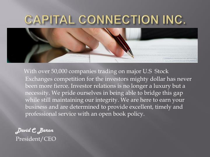 CAPITAL CONNECTION INC.