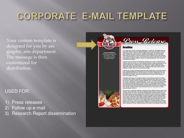 CORPORATE  E-MAIL TEMPLATE