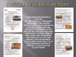 custom research report