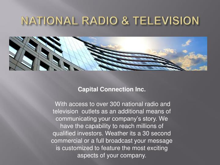 NATIONAL RADIO & TELEVISION