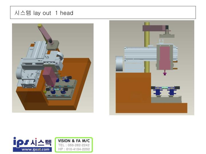 Lay out 1 head