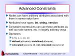 advanced constraints