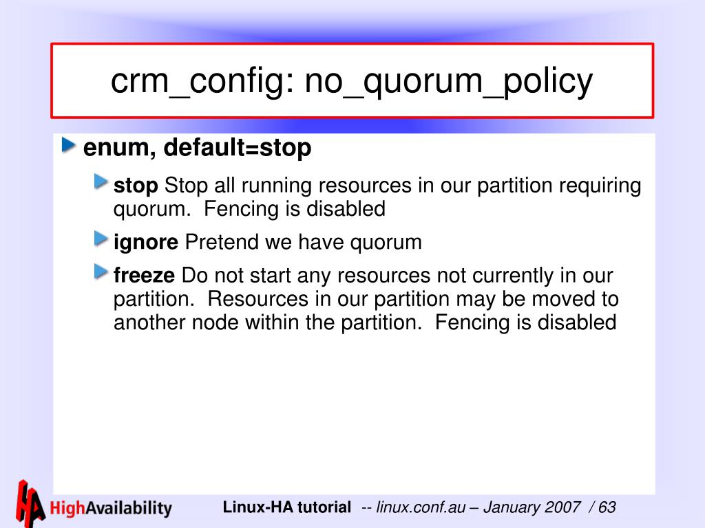crm_config: no_quorum_policy