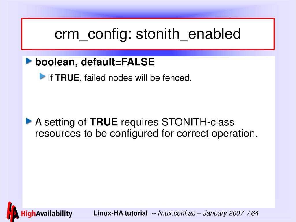 crm_config: stonith_enabled