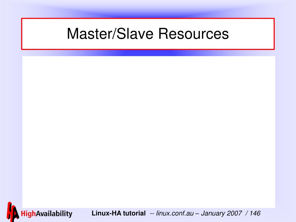 Master/Slave Resources