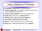 meta attributes of primitives