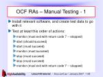 ocf ras manual testing 1