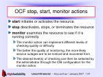 ocf stop start monitor actions