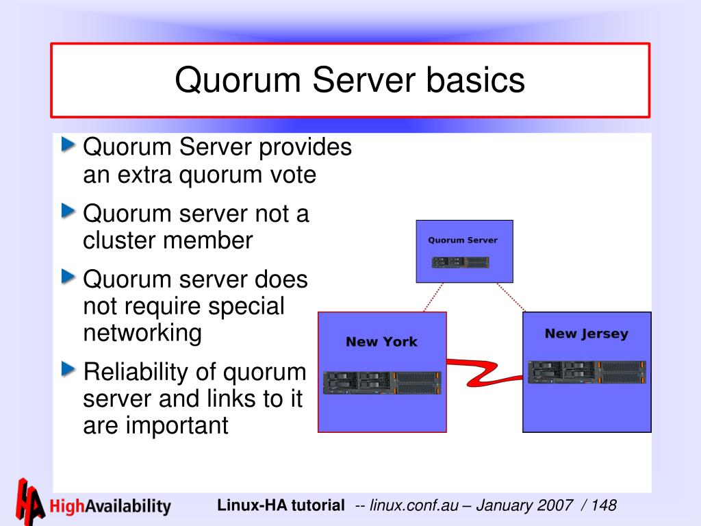 Quorum Server basics