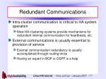 redundant communications