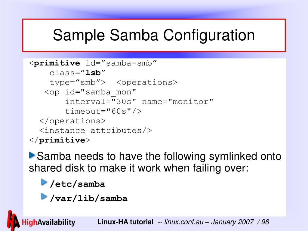 Sample Samba Configuration