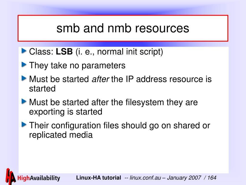 smb and nmb resources
