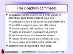 the cibadmin command