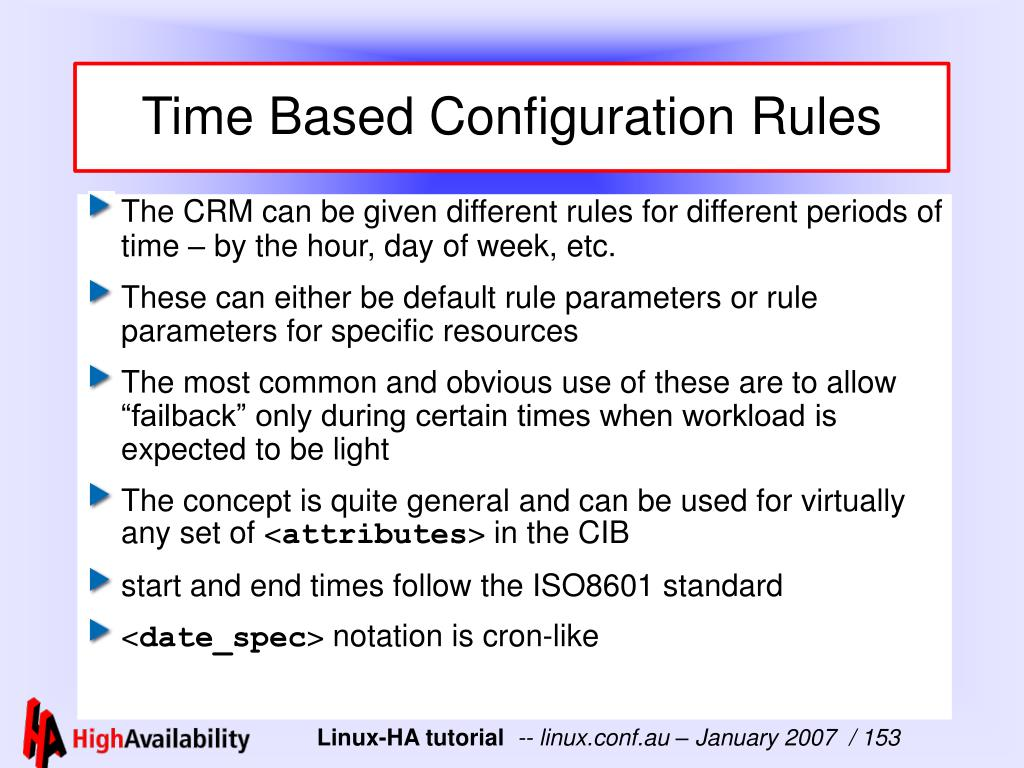 Time Based Configuration Rules