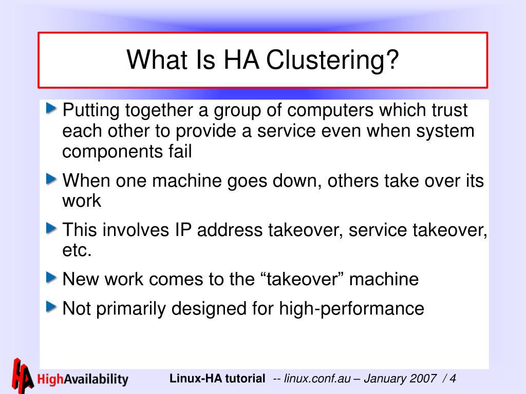 What Is HA Clustering?